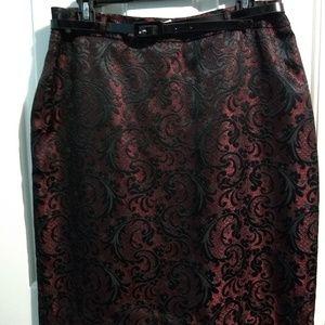 Worthington Red and Black Skirt.